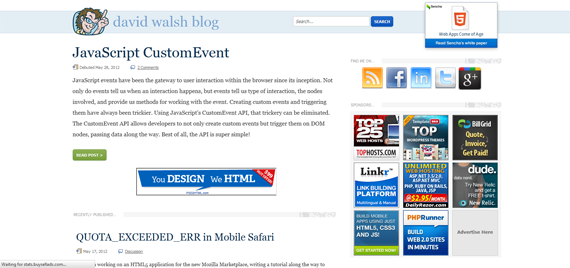 David Walsh Web Development Blog